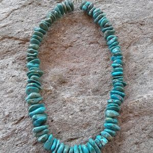 Jewelry - Sterling silver,  genuine TURQUOISE necklace